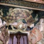 "H W inscription, the ""Beautiful Door "", St Anne's church, Annaberg."